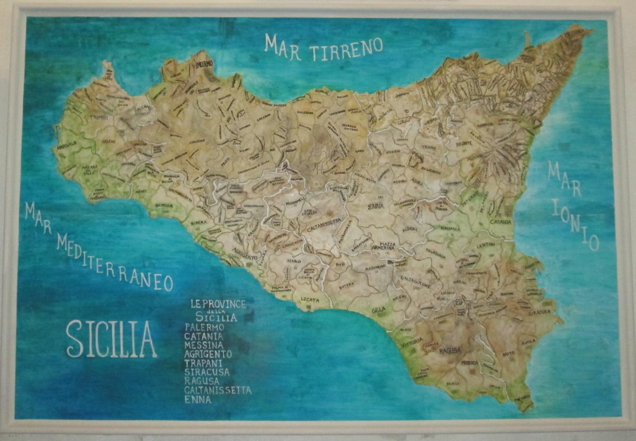 Casa Galiano Map of Sicily